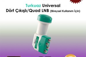 Atlanta Turkuaz Universal HD Quad LNB